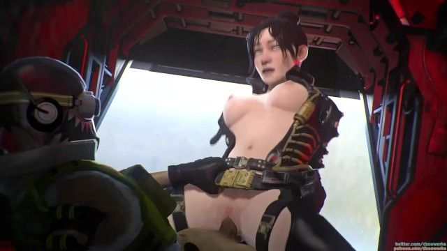 Apex Legends Porn: Wraith is taking Octain's Big Dick